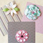 3 Tipi di fiori di carta fatti a mano – 3 Handmade paper flowers