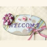 Cartello Welcome per porta d'ingresso – Welcome poster for entry door