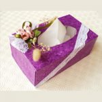 Porta fazzoletti decorato – Tissue holder decoration