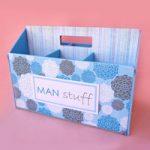 Cassetta porta attrezzi maschile – Masculine tool holder box