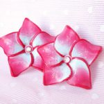 Orecchini in FIMO Ibiscus – FIMO Hibiscus flowers earrings