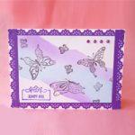 Biglietto Sfumatura su carta fotografica – Blending on photo paper Card