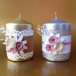 Candele Decorate – Gift idea: decorated candles