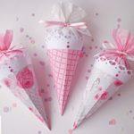 Coni shabby porta riso/coriandoli – Wedding: shabby confetti holder cones