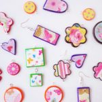 Ciondoli con scarti di fimo e carta – Pendants with Fimo and paper scrap