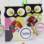 Halloween: Scatole gufo porta dolcetti – Owl treats holder