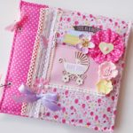 Album foto Bimba con Copertina in Stoffa – Fabric Cover Baby girl photoalbum