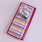 Scuola: Cartella porta Appunti – School: Notebook Folder DIY