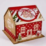 Casa di pan di zenzero porta Post-it – Gingerbread House Post-it holder DIY