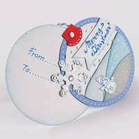 Tag Chiudipacco paesaggio di neve – Christmas Gift Tag Snow Scene