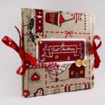 Album Natalizio in stoffa a fisarmonica – Christmas Accordion Fabric Album