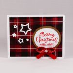 Biglietto d'auguri in acquerello stile Plaid/tartan – Plaid Card waterbrush DIY