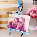 Cavalletto porta foto S.Valentino con cannucce – Straws Easel Valentines