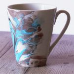Tazza decorata con gli smalti – Nail polish MUG decoration