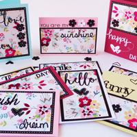 10 Card con 1 foglio decorato – 10 cards only 1 designed sheet