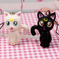 Luna e Artemis da Sailor Moon in FIMO – Polymer clay