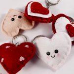 Cuori in feltro San Valentino – Felt hearts Valentine's