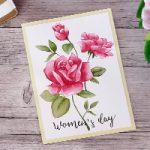 Biglietto Rosa in acquerello per la Festa della Donna – Watercolo roses Card