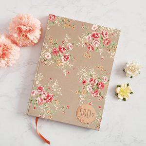 Agenda Bullet Journal A5 Puntinato copertina in Stoffa fiori sabbia