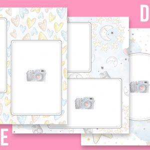 Pagine DIGITALI Baby Powder per album di foto - 21 files