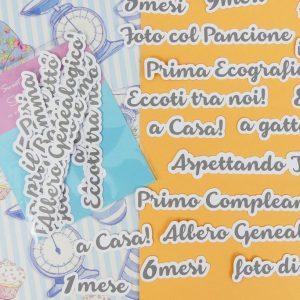CARTONCINI Parole set Bimbi - 26pz