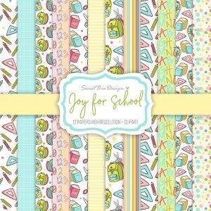 Set di carte Stampate Joy for School