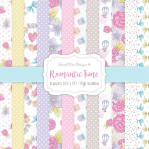 Set di carte stampate ROMANTIC TIME