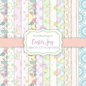 Set di carte Stampate EASTER JOY