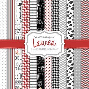 Set di carte Stampate Laurea