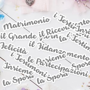 CARTONCINI Parole set Matrimonio - 27pz