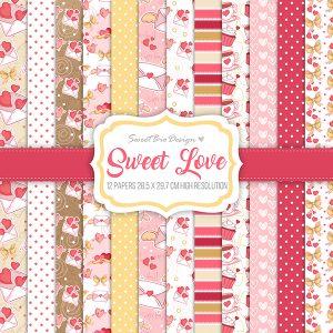 Set di carte Stampate SWEET LOVE