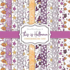 Set di carte Stampate THIS IS HALLOWEEN + Cartoline abbinate
