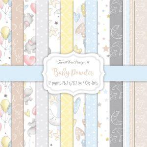 Set di carte stampate BABY POWDER