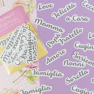 CARTONCINI Parole set Famiglia - 44pz