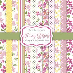 Set di carte Stampate Fizzy Spring
