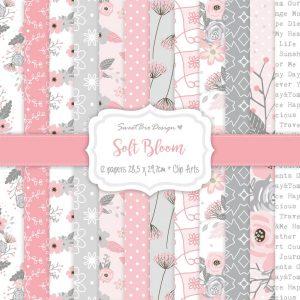 Set di carte stampate SOFT BLOOM