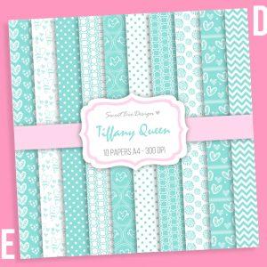Set di 10 immagini DIGITALI Tiffany Queen